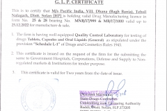 PACIFIC INDIA GLP CERTIFIACTE (1)
